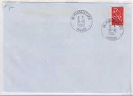 HARSAULT (Vosges)  Agence Postale Communale  1° Jour 18 12 2007 - Marcophilie (Lettres)