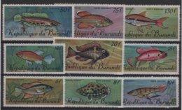 POI 18 - BURUNDI PA 62/70 Neufs** Poissons - 1970-79: Neufs