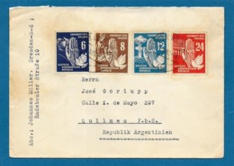 1950 DDR DRESDEN TO ARGENTINA - [6] Repubblica Democratica