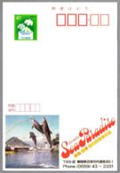 DELFINES - DOLPHINS - DAUPHINS. Tarjeta Entero-postal De Japon - Delfines