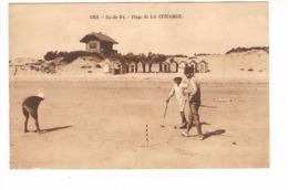 CP (17) Ile De Ré.Plage De La Couarde. Jeux De Croquet (E.823) - Ile De Ré