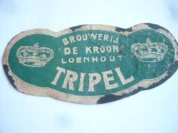 Belgisch Bier Etiketen 3 Stuks De Kroon Loenhout - Alcohols