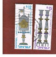 ISRAELE (ISRAEL)  - SG 337.338  - 1966  JEWISH NEW YEAR: CEREMONIAL OBJECTS   - USED ° - Israël