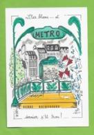 CPM Illustrateur Jean Luc Perrigault. Serge Gainsbourg .Lilas Blanc...metro. R A T P. - Illustrateurs & Photographes