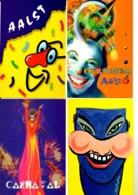 Aalst Carnaval - 8 Post Kaarten 1997 - Carnaval
