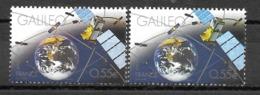 Année 2008 : Y. & T. N° 4247 ** Terre Bleue Noir Sur Timbre De Gauche, Bleu Normal Sur Timbre De Droite - Variétés Et Curiosités