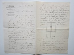 E.TISSIER Entrepreneur De Peinture à ARGENTEUIL (95) Facture Du 12/11/1899  Document Signé - Old Professions
