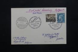 LUXEMBOURG - Carte 1er Vol Postal Luxembourg / Reykjavík En 1955, Affranchissement Et Cachet Plaisants - L 42454 - Lussemburgo