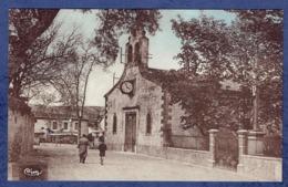 CPA AUDE (11) - BRUGAIROLLES - L'EGLISE ET LA POSTE - France