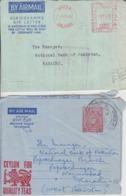 Ceylon 2 Cover  (A-4200) - Sri Lanka (Ceylon) (1948-...)