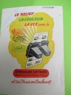 Catalogue/Prospectus Tarif à 2  Volets/Stéréoscope LESTRADE/Images Du Monde/Le Relief, La Couleur, Lavie/ 1957  CAT270 - Advertising