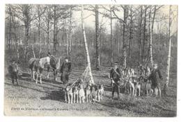 Cpa: 72 Forêt De VIBRAYE (ar. Le Mans) Chasse à Courre (Mis Du Luart) Un Relais - 1909 - Ed. J. Bouveret - Vibraye
