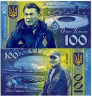 Ukraine - 100 Hryven 2019 UNC Oleg Blokhin Polymer Souvenir Lemberg-Zp - Ucrania