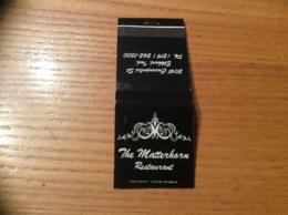 "Pochette D'allumettes Etats-Unis ""The Matterhorn Restaurant - Elkhart, Indiana"" - Boites D'allumettes"