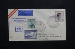 LUXEMBOURG - Enveloppe De Rumelange Par 1er Vol Wien / Djakarta En 1958, Affranchissement Plaisant - L 42460 - Lussemburgo