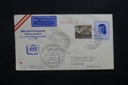 LUXEMBOURG - Enveloppe De Rumelange Par 1er Vol Wien / Djakarta En 1958, Affranchissement Plaisant - L 42461 - Lussemburgo