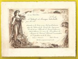 Ecole D'Electricité ... Rue Violet Paris Carton Invitation Au Bal 1908 - Toegangskaarten