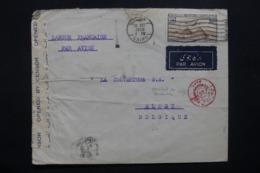 EGYPTE - Enveloppe Du Caire Pour La Belgique En 1939 Avec Contrôle Postal, Affranchissement Plaisant - L 42463 - Covers & Documents