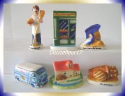 Boulangerie D'Isigny Ste Mère.. 6 Fèves ... Ref AFF : 64-2007 ...(pan 0014) - Regiones