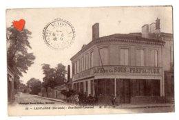 41336-ZE-33-LESPARRE-Rue Saint-Laurent-------------animée-café De La Sous-Préfecture - Lesparre Medoc