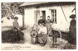 GERARDMER (88) - L' Industrie De La Toile Dans La Montagne - FILEUSE - MÉTIER - Ed. A. Breger Frères - Gerardmer