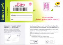 LA LETTRE SUIVIE Type Ciappa 2ème Tirage 2015 (LS 2). Fond De L'adresse En Blanc. - KlebeBriefmarken