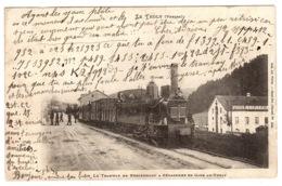 LE THOLY (88) - Le Tramway De Remiremont à Gerardmer En Gare Au THOLY - Ed. Ad. Weick, St Die - Francia