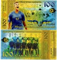 Ukraine - 100 Hryven 2019 UNC Ukraine Youth Football Team World Champions Polymer Souvenir Lemberg-Zp - Ucrania