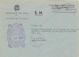 34042. Carta S.N. Franquicia Juzgado Municipal ARMENTERA (Gerona) 1959 - 1931-Hoy: 2ª República - ... Juan Carlos I
