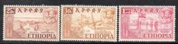 ETP228A - ETIOPIA 1952 ,  Yvert  N. 316+317+321 *  Linguella (2380A) - Ethiopia
