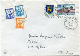 FRANCE / HAUTE-VOLTA LETTRE PAR AVION DEPART CEBAZAN 15-1-1976 TAXEE A L'ARRIVEE A DORI HAUTE-VOLTA LE 27-1-1976 - Haute-Volta (1958-1984)