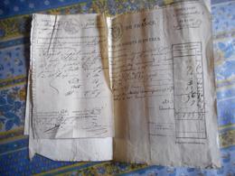 3 MANUSCRITS Daté 1823 Douanes De FRANCE Concerne L' Achate De Peaux DEDOUANEMENT - France