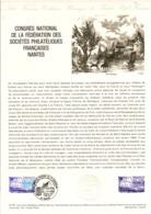DOCUMENT FDC 1979 CONGRES PHILA. NANTES - Documents De La Poste