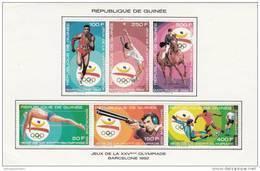 Republica De Guinea Nº Michel 1256 Al 1261 En Hoja - Ete 1992: Barcelone