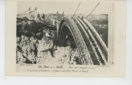 PONT DE LA CAILLE - Carte Photo De Sa Construction - Pose Des Voussoirs De Rive - Photo P. COCHARD à ANNECY - France