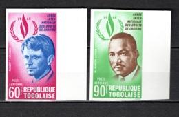 TOGO N° PA 105 + 106 NON DENTELES  NEUFS SANS CHARNIERE COTE  ? €  DROITS DE L'HOMME PRESIDENT - Togo (1960-...)