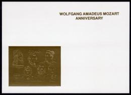Guyana 1992, Mozart Anniv., Durer, Einstein, Curie, Karpov, Harris, Deluxe GOLD - Albert Einstein