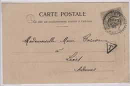 IGNEY (Vosges)  Facteur Boitier 1884 17 Juillet 1903 Tarif Imprimé Non Admis - Marcophilie (Lettres)