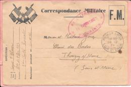 Correspondance Militaire 1939 Modèle Peu Commun Cachet Base Aérienne Romorantin Vagemestre - Franquicia Militar (Sellos)