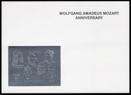 Guyana 1992, Mozart Anniv., Durer, Einstein, Curie, Karpov, Harris, Deluxe SILVER - Albert Einstein