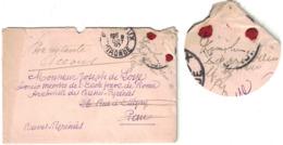 """1897 - MENTION """" TIMBRE DISPARU DANS LE SERVICE """" (+ SIGNATURE) Sur LETTRE De BORDEAUX Pr PAU POSTE RESTANTE ACCOUS - Marcophilie (Lettres)"""