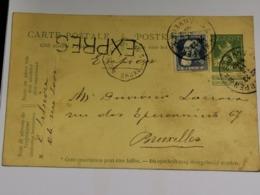 Entier Postaux, 1912, Anvers Expres - Lettres & Documents