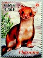 N° Yvert & Tellier 3384 - Timbre De France (Année 2001) - MNH - Nature De France - L'Hermine - France