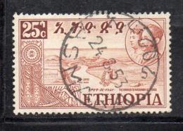 ETP233C - ETIOPIA 1952 ,  Yvert  N. 316 Usato (2380A)  ERITREA - Ethiopie