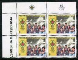 MACEDONIA 2003 Scout Movevemnt Block Of 4  MNH / **.  Michel 277 - Macedonia