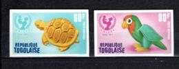 TOGO N° PA 168 + 169 NON DENTELES  NEUFS SANS CHARNIERE COTE  ? €  UNICEF  ANIMAUX - Togo (1960-...)