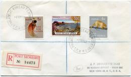 PAPOUASIE-NOUVELLE-GUINEE LETTRE RECOMMANDEE DEPART PHILATELIC BUREAU MORESBY 1 MY 63 POUR LES ETATS-UNIS - Papouasie-Nouvelle-Guinée