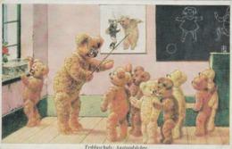 CPM Animal Humanisé Position Humaine Maître D' Ecole Ecolier Ours En Peluche Ourson Teddy Bear Illustrateur (2 Scans) - Bears