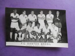 PHOTO EQUIPE DE FOOT FOOTBALLEURS F.C SANTOS BRESIL TOURNOI DE PARIS 1960 - Sports