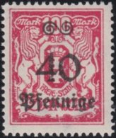Danzig     .    Michel    .    186      .       **    .      Postfrisch      .   /   .    MNH - Dantzig